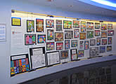 exhibition of children paintings & drawings done in art class