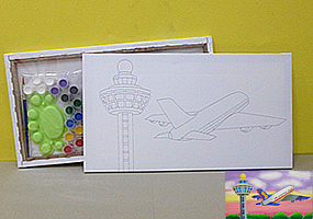 Canvas for painting, printed with, Changi Airport design