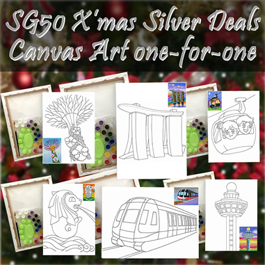 Christmas silver deals, Singapre landmarks canvas art all 6 designs, Christmas discount price