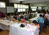 Children art workshop at Family Fun Day event