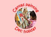 Children art classes 10th anniversary Rochor centre canvas painting December 2018