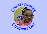 Children art classes 10th anniversary Children's Day special coaster painting October 2018
