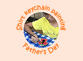 Children art classes 10th anniversary Father's Day booth keychain painting May / June school holiday 2018