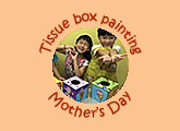 Children art classes 10th anniversary Mother's Day special wooden tissue box painting May 2018