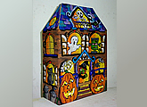 Halloween 3D spooky house painting for kids