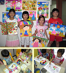 Holiday art, drawing and painting class for children