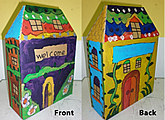 3D castle acrylic painting children art class