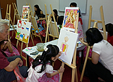 children birthday art party or art jam