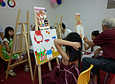 children art birthday party and art jam