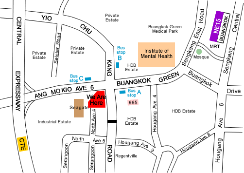 Local map of My Art Pencil art studio at Buangkok