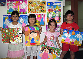 children holiday drawing and painting class