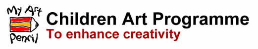 My Art Pencil logo and tagline: children art programme to enhance creativity