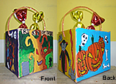 trick or treat bucket acrylic painting children art class